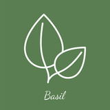 Basil leaves vector icon - 232977524