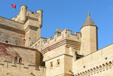 Royal Palace of Olite, a castle-palace in the town of Olite, Navarre, Spain - 232978351