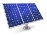 solar panel concept 3d illustration - 232981701