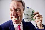 Euro, Euroschine Mann isst Geld - 232987769