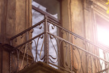 Balcony with metal forged railing - 232993183