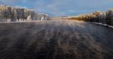 Winter an einem Fluss in Schweden - 232997793