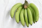 Close up of Green banana fruit - 233003912