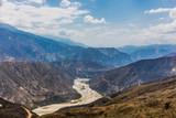 Chicamocha Canyon from Mesa de Los Santos landscapes andes mountains Santander in Colombia South America - 233006348