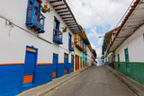 colorful streets of Salamina Caldas in Colombia South America - 233007110