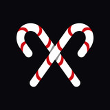 Candy cane vector icon - 233007554