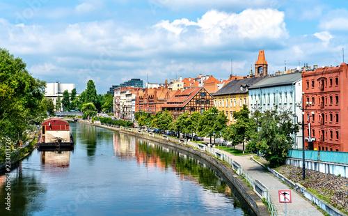 Zdjęcia na płótnie, fototapety na wymiar, obrazy na ścianę : View of Bydgoszcz with the Brda river, Poland