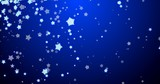 Blue christmas background with snowflakes. - 233032124