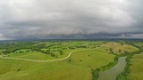 Stormy weather over Central Kentucky countryside - 233046902