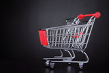 Shopping cart ready for a shopping day
