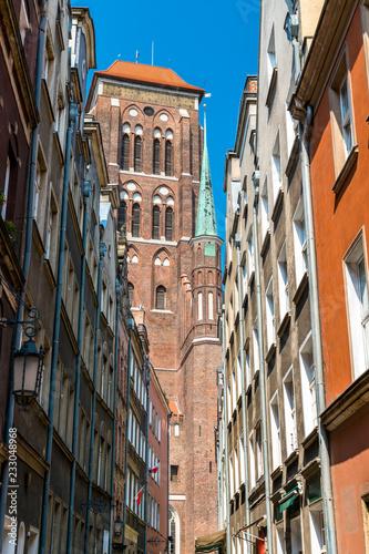 fototapeta na ścianę St. Mary's Church in Gdansk, Poland