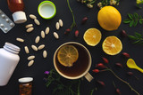 Herbal vs conventional medicine concept - 233053162