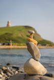Pebble tower at beach - 233058726