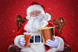 santa claus is watching a movie - 233061332