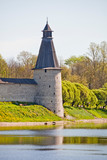 Sightseeing Russia. Gold ring, the city of Pskov. Towers of the Kremlin - 233065133