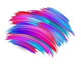 Colorful brush strokes on white background. Creative design. - 233068514