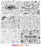 Doodle Big Set , Christmas, modern, Valentine , Alphabet, science, back to school, party, food, space, love breakfast, coffee, arrow - 233077307