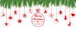 Merry Christmas card with element icons banner. Winter background. Vector illustration