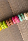 Colorful home Macaron on wood background vintage tone - 233104312