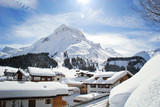 Charming village of Lech, a ski resort in Austria at Winter - 233104988