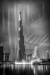 Leinwanddruck Bild - burj khalifa with fountain show, Dubai, UAE