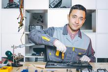 "Постер, картина, фотообои ""service repair electronics"""