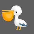 a vector of a cute pelican with a big peck - 233118108