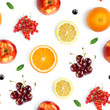 Fruits seamless pattern. Food background