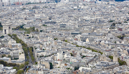 houses from Eiffel Tower in Paris France