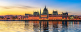 Hungarian Parliament Building by Morning Light (panoramic) - 233140943
