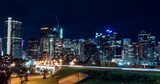 Hyper lapse of downtown Calgary and Centre Street Bridge at night - 233143719