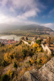 Panorama of Duernstein village with castle during autumn in Austria - 233152178