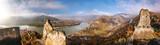 Panorama of Duernstein village with castle during autumn in Austria - 233152305