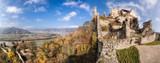 Panorama of Duernstein village with castle during autumn in Austria - 233152597