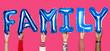 Leinwandbild Motiv Hands showing family balloons word