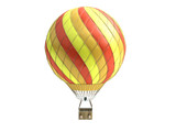 Hot Air color balloon 3d render on white background - 233159941