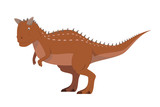 Fototapeta Dinusie - Carnotaurus vector illustration isolated in white background. Dinosaurs Collection. © asantosg