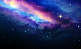 Night sky with colorful stars. Abstract sky background.