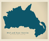 Mid and East Antrim district map of Northern Ireland - 233176509
