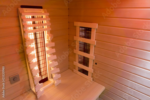 Leinwanddruck Bild Private infrared sauna