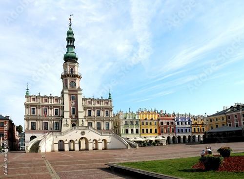 Zamość, poland, Town Hall, UNESCO,  Market Square,  Renaissance town,  ideal town, parapet,  Mannerist proportions,  architecture, building, city, landmark, town, old, tower,  facade, square