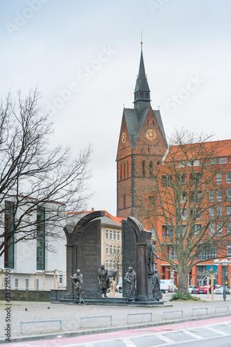 fototapeta na ścianę HANNOVER, GERMANY-March 13, 2018: Monument to the Gottingen Seven in Hanover, Germany.