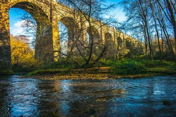 Medieval Aqueduct  in Scotland Avon Aqueduct Second Highest Aqueduct Ancient Brick construction Scottish Architecture  © catalin