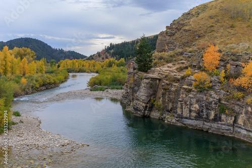 Gros Ventre River Wyoming jesienią