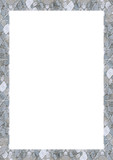 White Frame with Decorated Borders - 233227180
