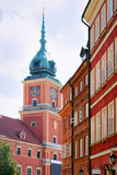 Steeple of Royal Castle in Old town of Warsaw - 233234761
