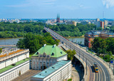 Panoramic view on highway and Vistula River in Warsaw - 233234799