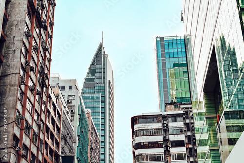 fototapeta na ścianę Modern Skyscrapers in Kowloon