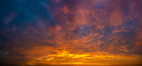 fiery sky during sunset - panorama - 233254164