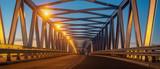 truss bridge, steel structure - 233254176